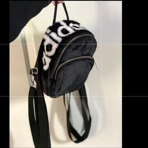 Furry adidas mini backpack